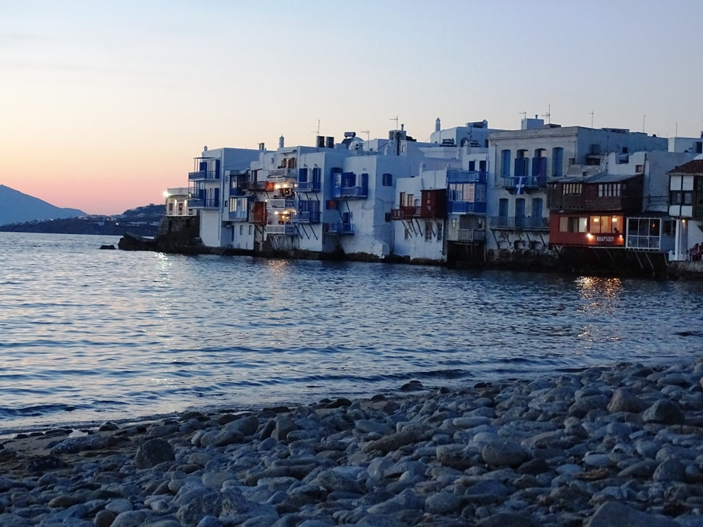Sunset in little Venice, Mykonos