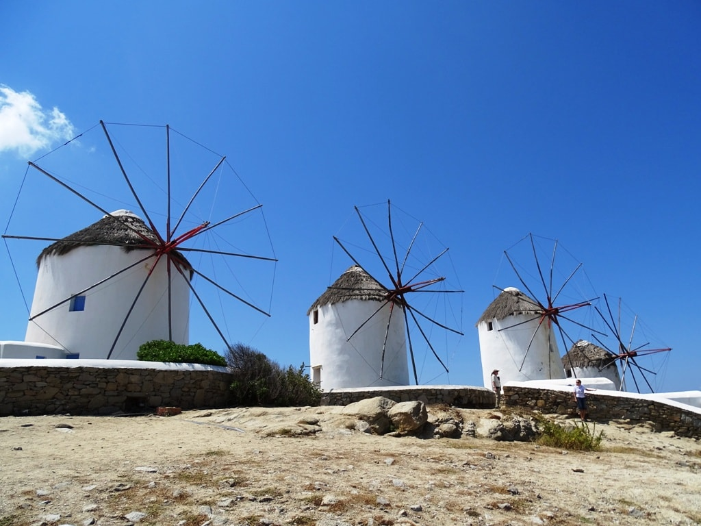 The windmills in Mykonos
