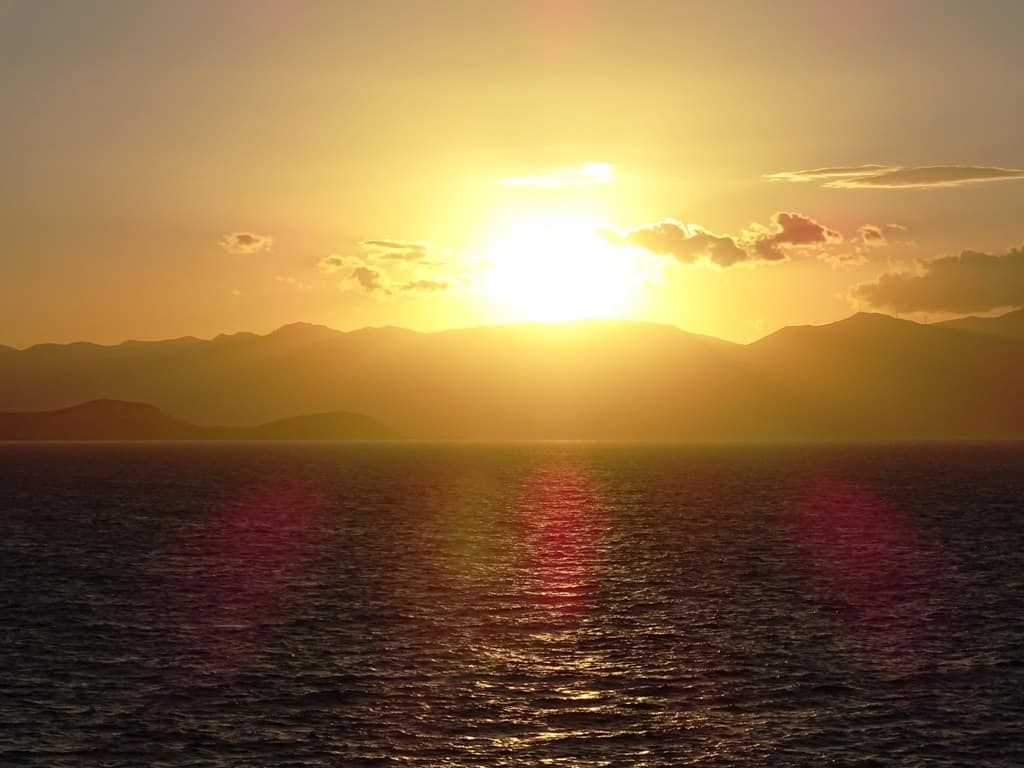 Sunset in Donousa