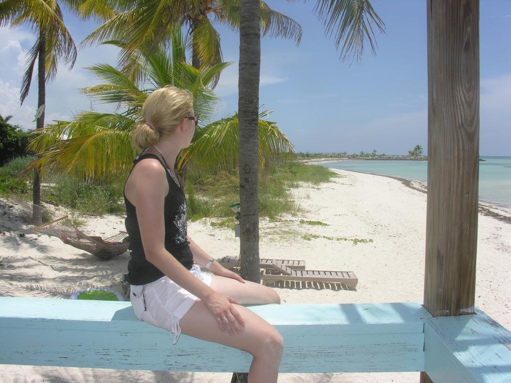 tropical beach Bahamas