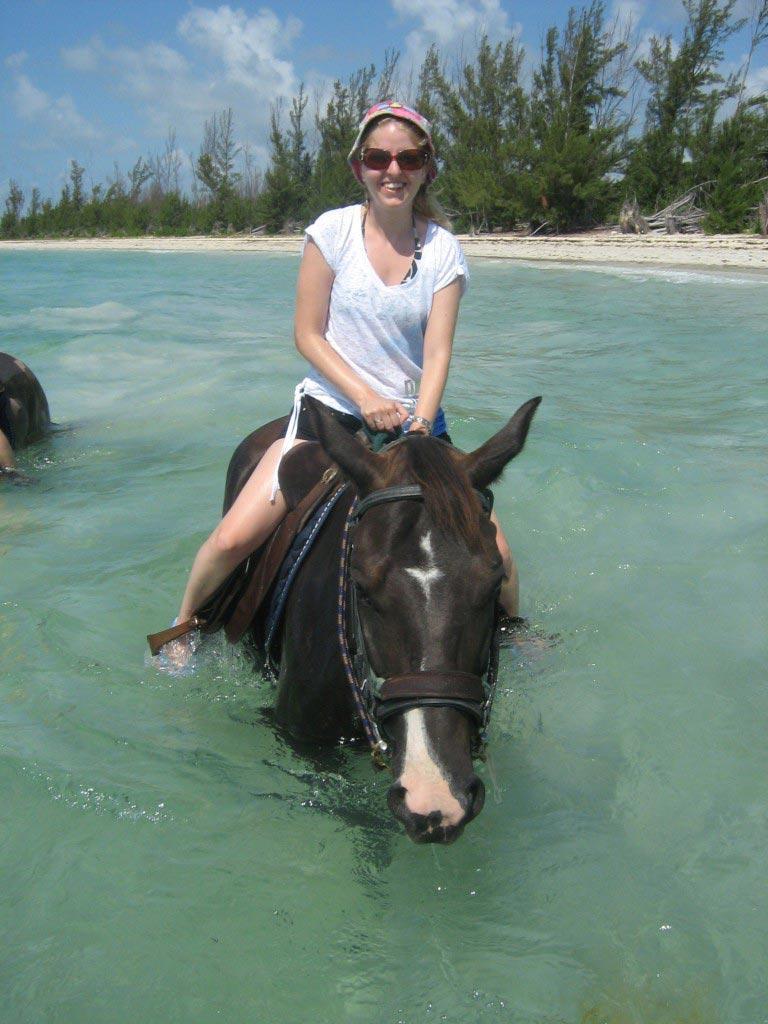 horse riding. Bahamas