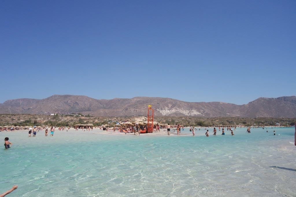 Elafonisi lagoon, Crete