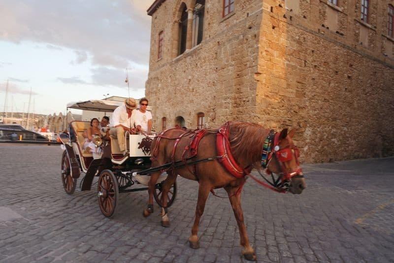 Carriage ride in Chania Crete