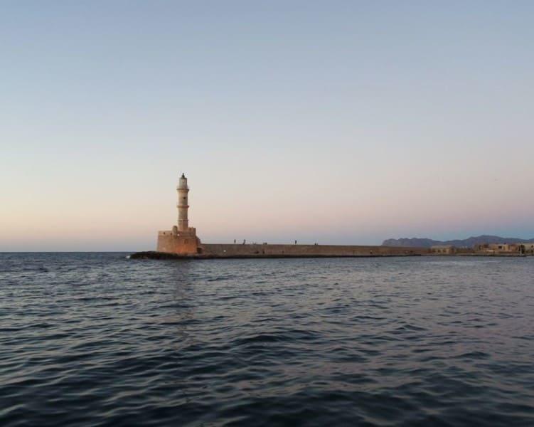 lighthouse, venetian port, Chania, Crete