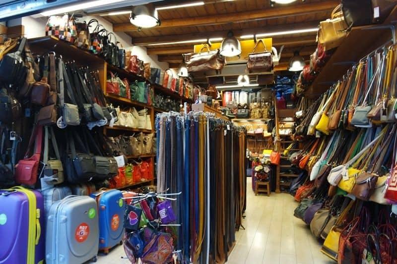 Greek souvenirs - leather goods
