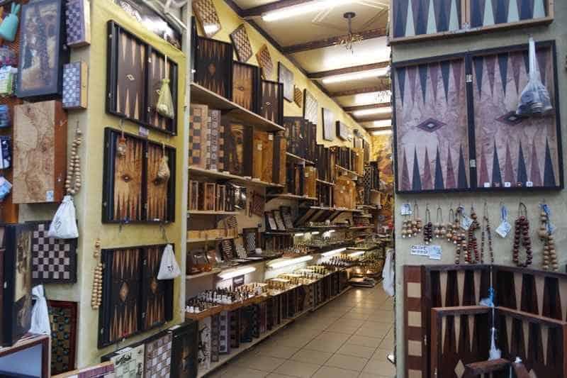 greek souvenirs - handmade backgammon