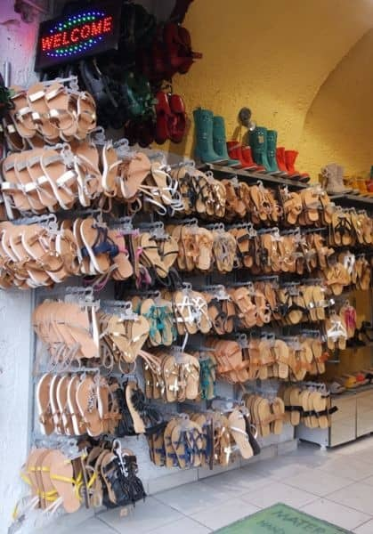 Greek souvenirs - sandals