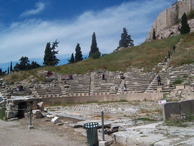 The ancient theatre of Dionysos Athens