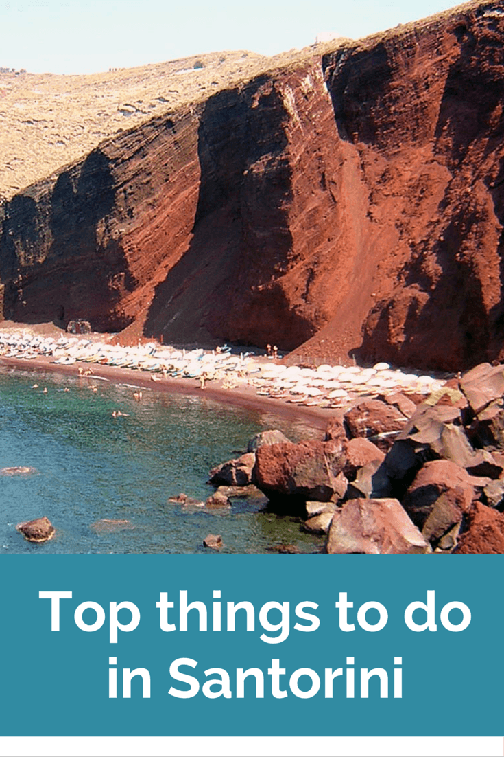 Santorini Red beach - things to do in Santorini Greece