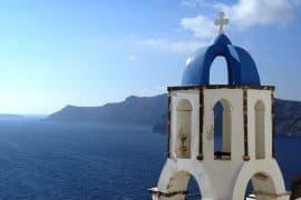 Church bell in Oia Santorini