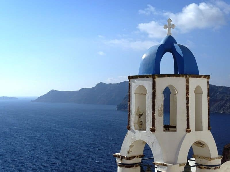 Church bell in Oia Santorini - What to do in Santorini