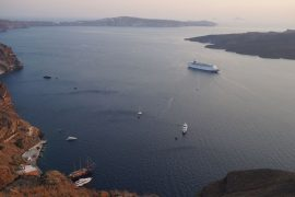 view from the caldera Santorini