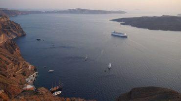 view from the caldera Santorini