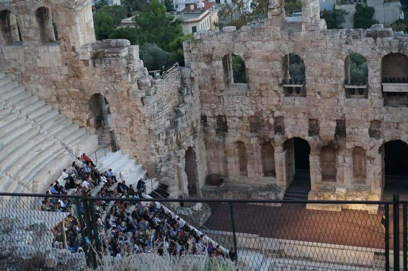 The Odeion of Herodes Atticus Athens