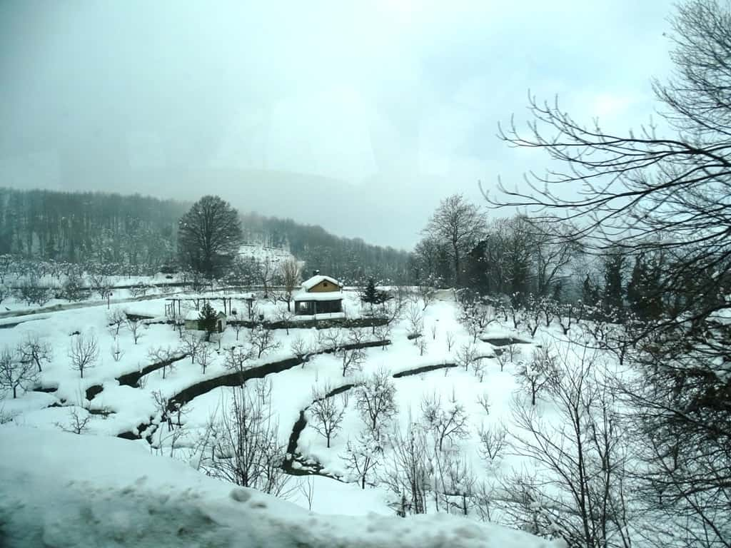 on the road to Hania Pelion