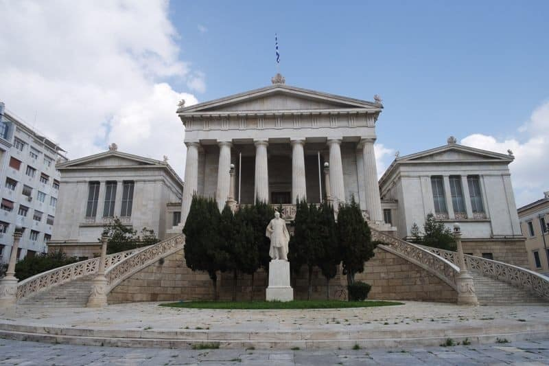 Top thing to do in Athens The National Library at Panepistimiou Steet