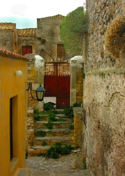 around Monemvasia's strets
