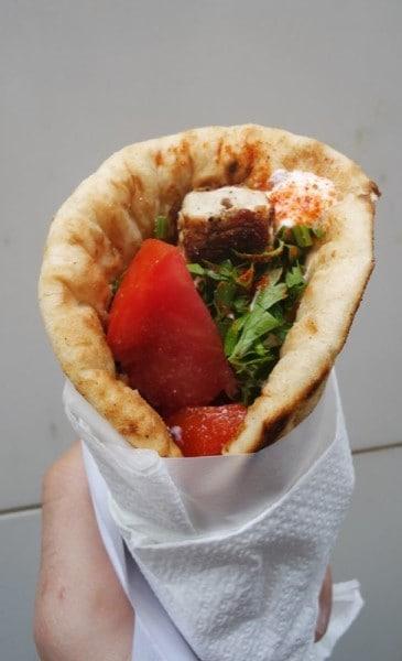 Greek souvlaki best street food in Athens