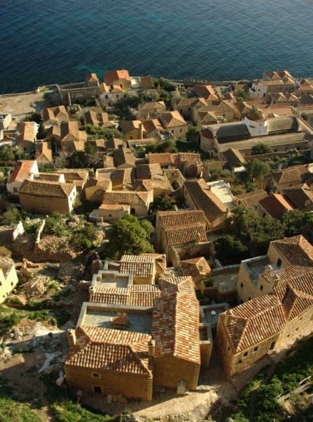 view from the upper town of Monemvasia