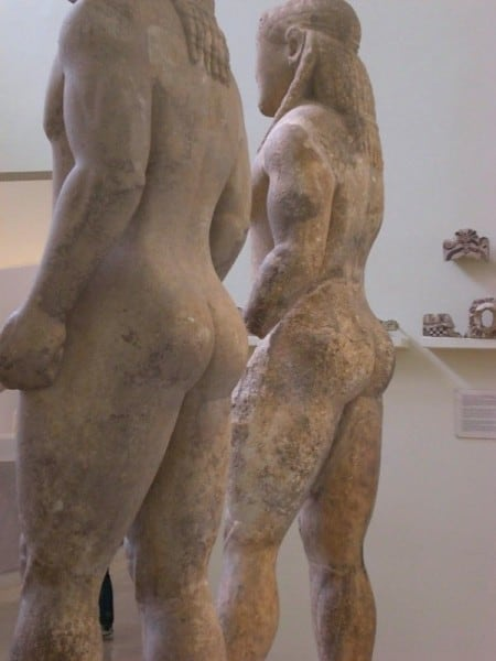 statues at the Archaeological museum of Delphi