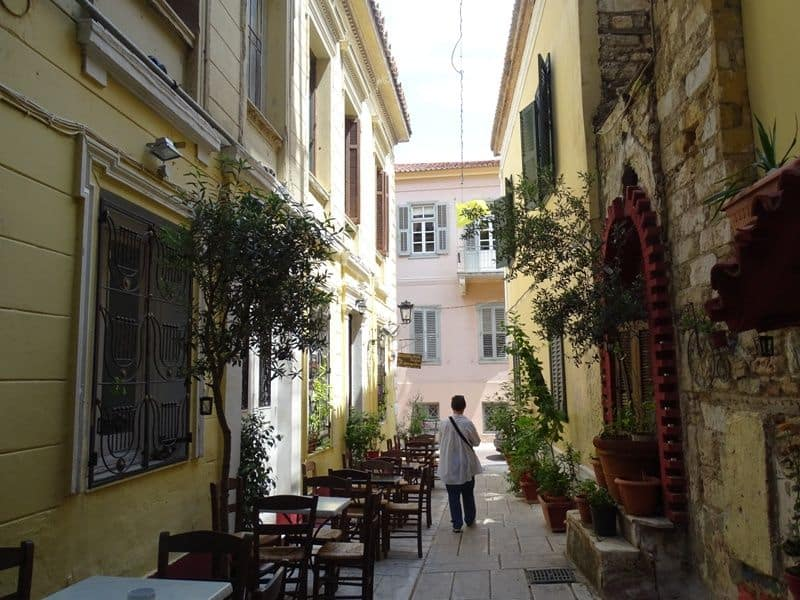 Eating in the streets of Plaka