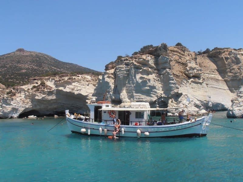 Kleftiko Milos island boat tour