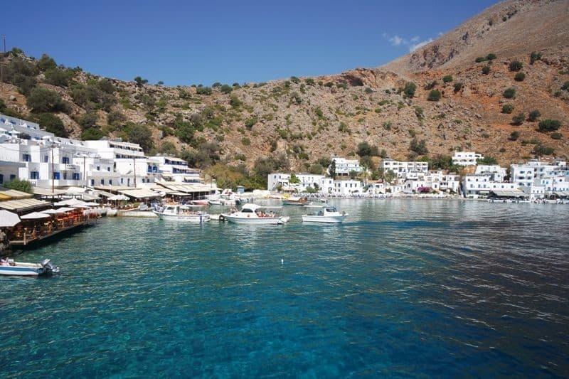 Loutro village Chania Crete