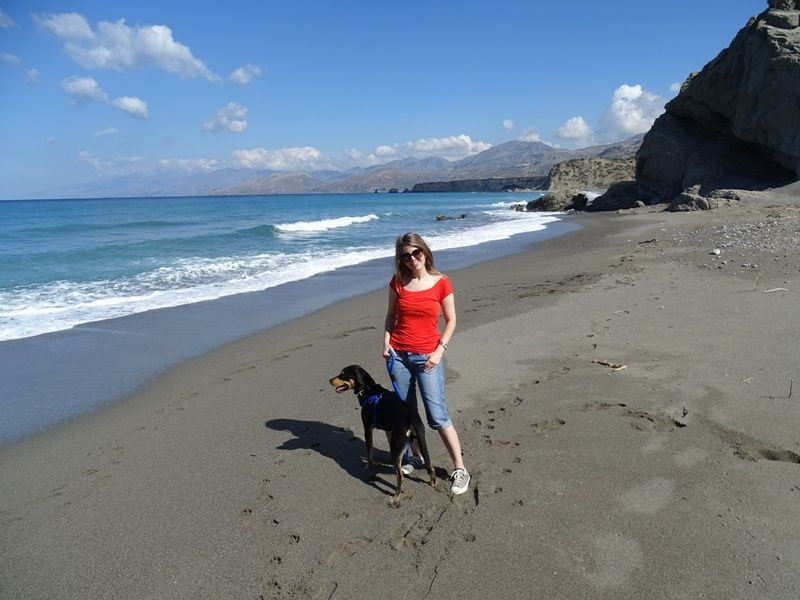 Me and Charlie at Agios Pavlos beach Crete