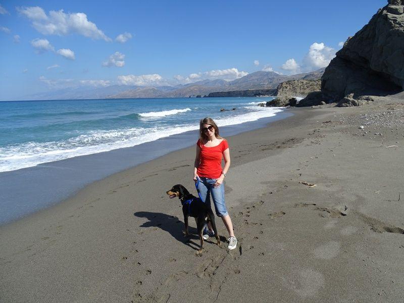 Me and Charlie at Agios Pavlos beach Crete