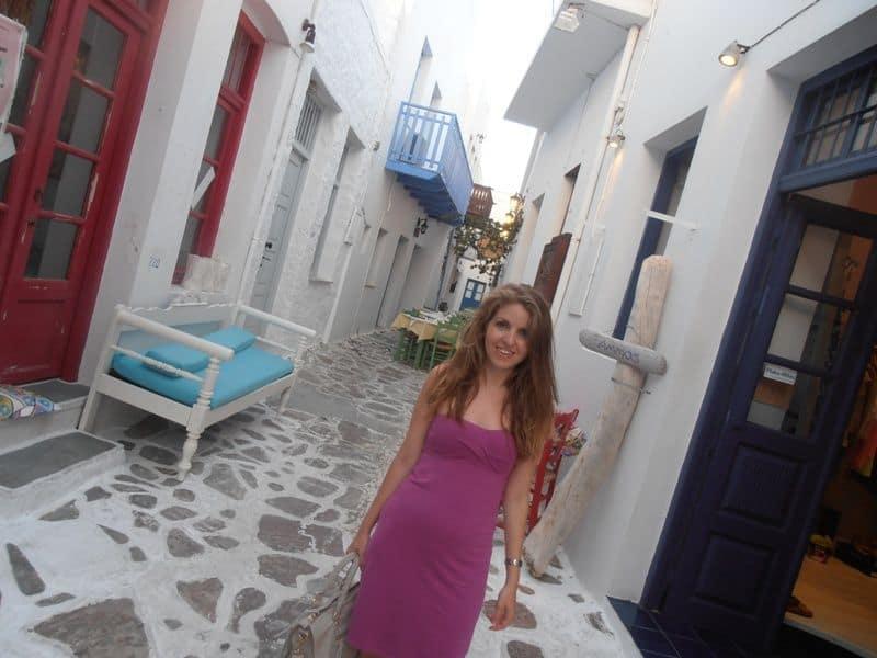 Me at Plaka Milos Island Greece