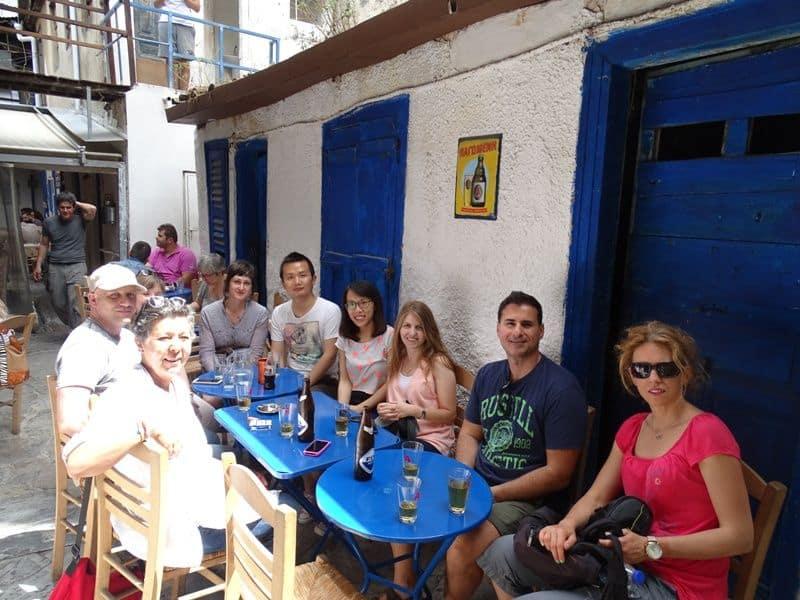 TBG members along with Katerina froLivin Lovin having lunch at Avli