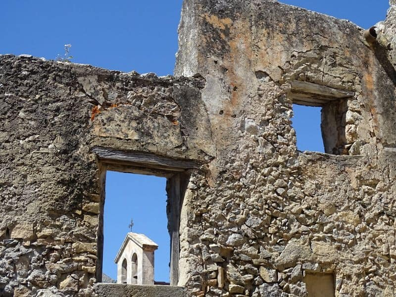 The abandoned Preveli Monastery