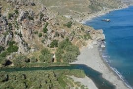View of Preveli beach as we descend