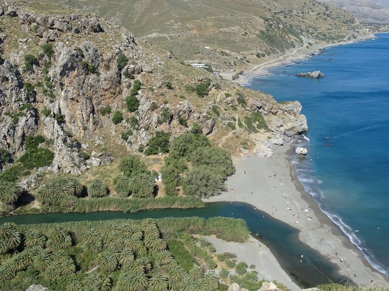 View of Preveli beach as we descend
