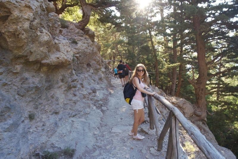 admiring the view at Samaria Gorge