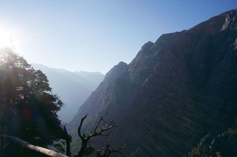 incredible view of the mountains around the Samaria Gorge