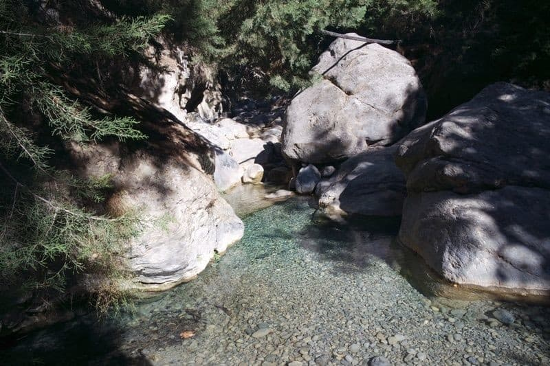 inside the Samaria Gorge