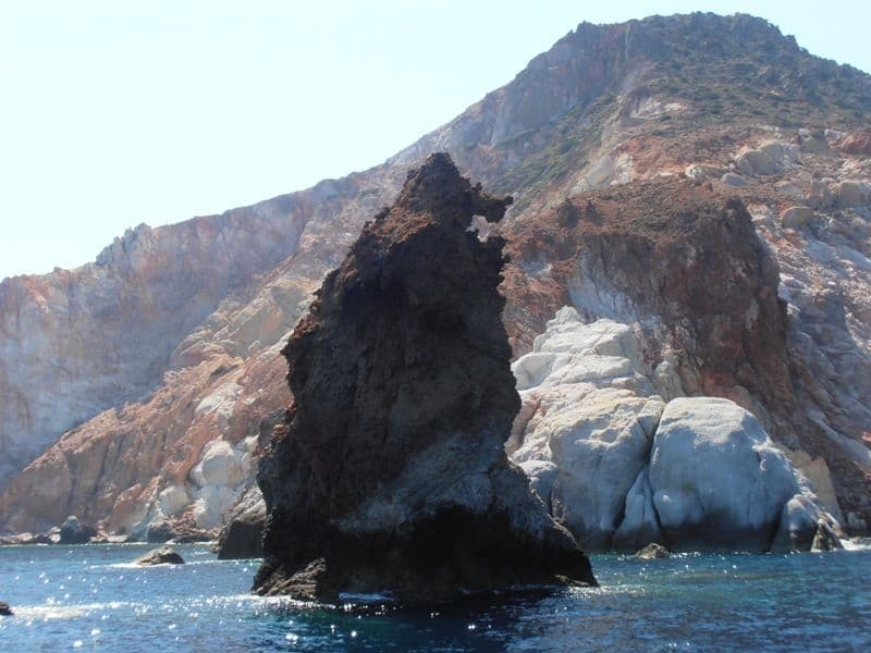 the bear rock Milos island