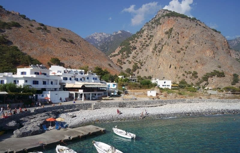 the village of Agia Roumeli Crete