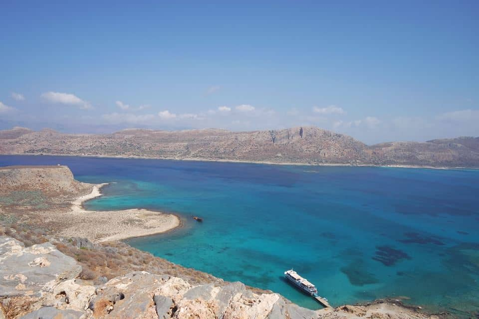 view from Gramvousa Island in Crete