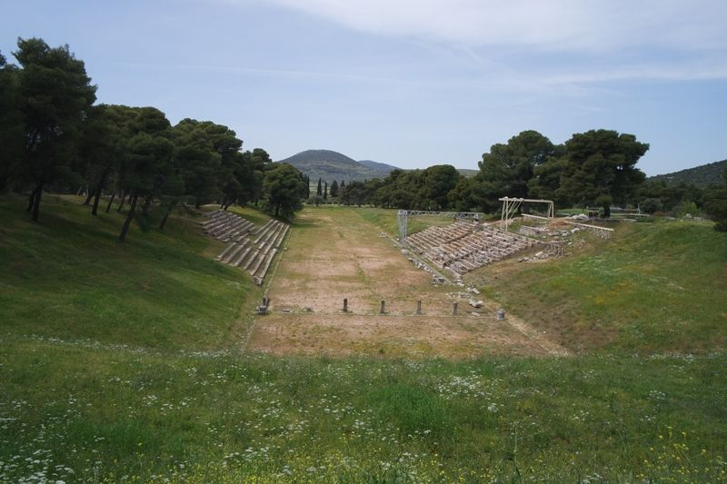 view-of-the-Stadium-in-the-Sanctuary-of-Asklepios-at-Epidearus