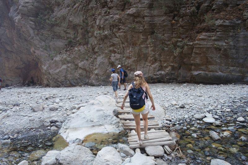 walking through the Samaria Gorge