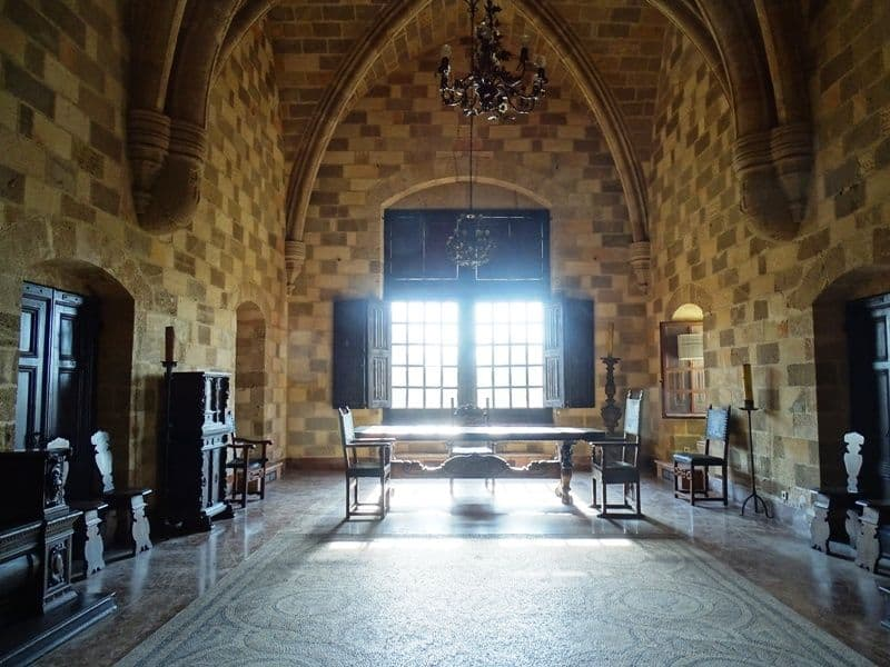 A room-at the Palace of the Grand Master