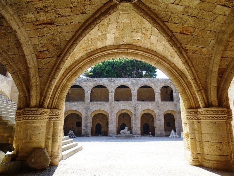 As you enter the hospital of the knights Rhodes