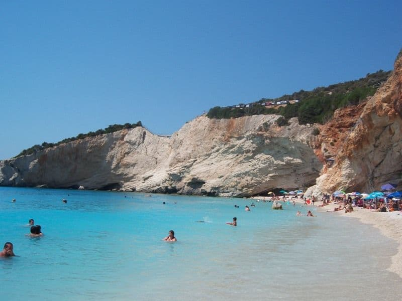 At Porto Katsiki Beach, Lefkada