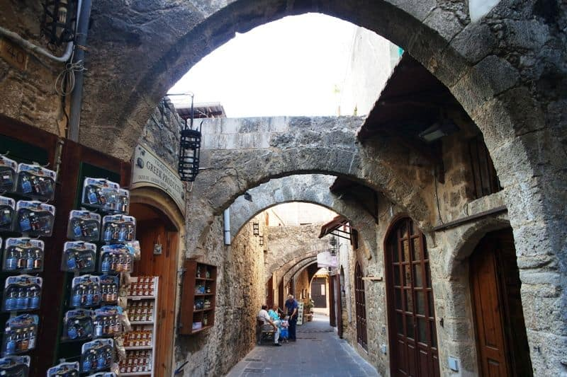 At the alleys of the medieval town Rhodes