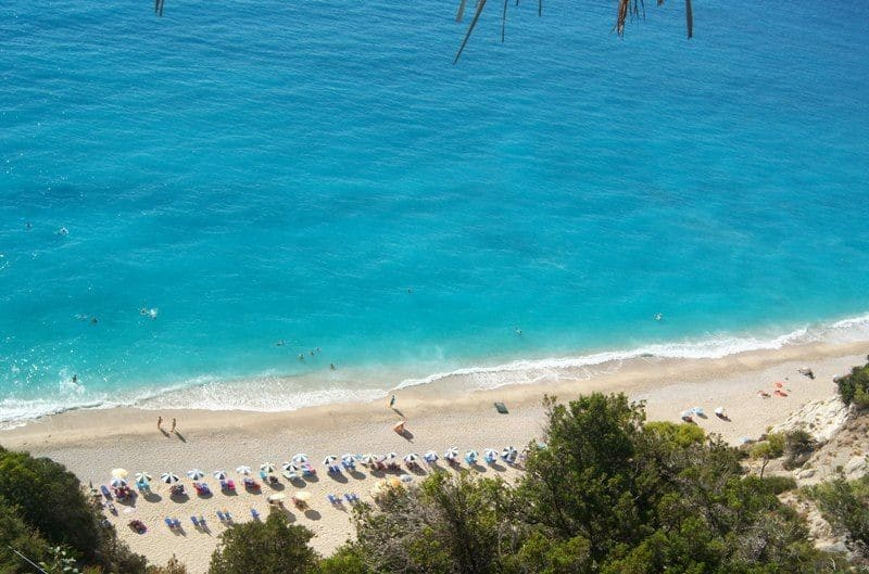 Egremni beach from above Lefkada