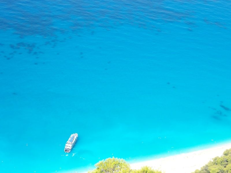 Egremni beach from above