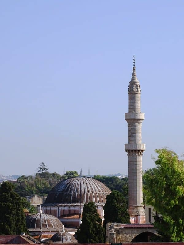 The-Suleman Mosque from above Rhodes