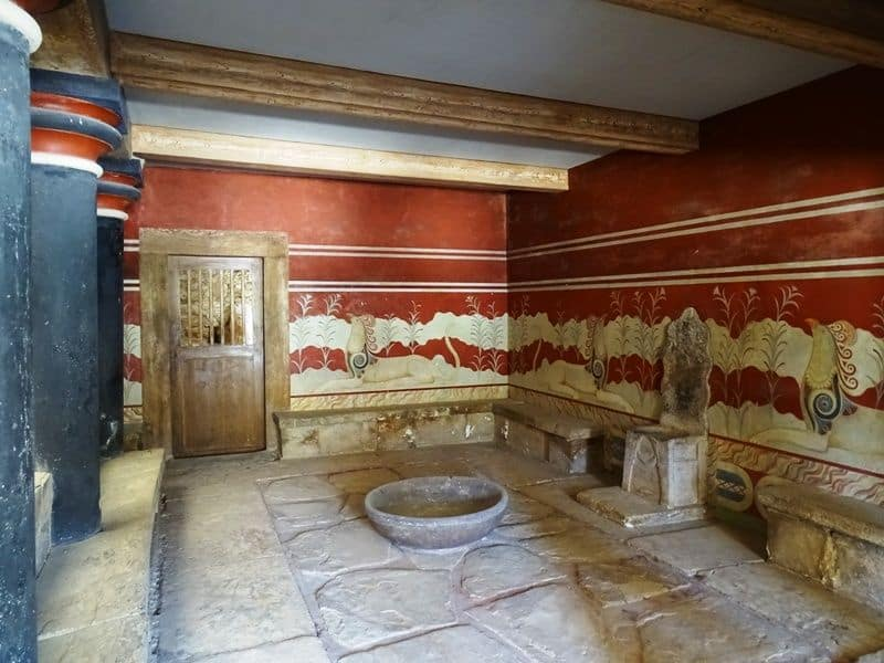Throne room at Knossos